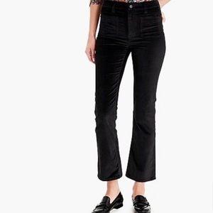J. Crew Billie Demi Boot Crop Black Pants Size 24P